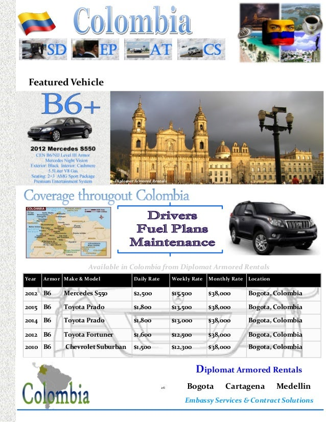 2015 Embassy Book from Diplomat Armored Rentals (Armored Vehicle Pric…