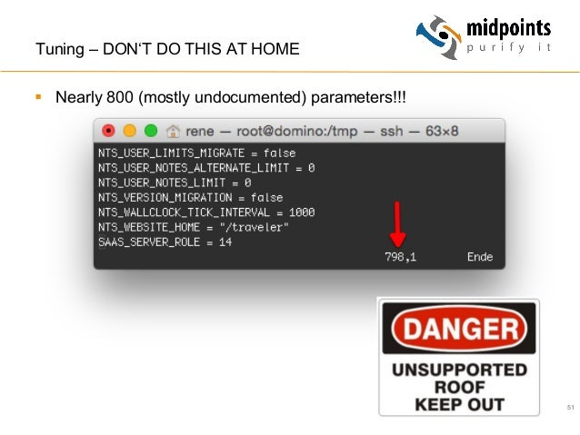 51 Tuning – DON'T DO THIS AT HOME § Nearly 800 (mostly undocumented) parameters!!!