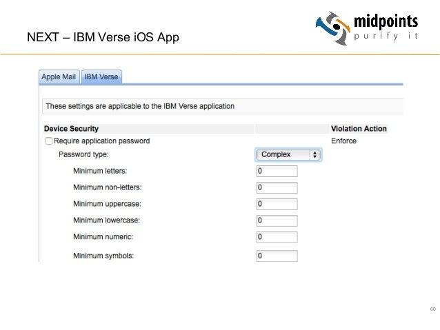 60 NEXT – IBM Verse iOS App