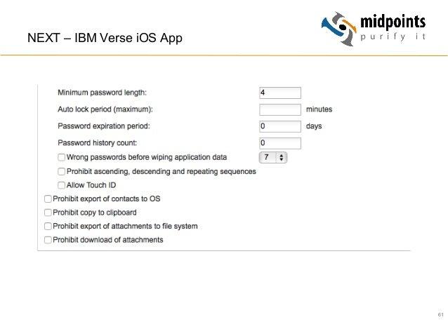 61 NEXT – IBM Verse iOS App