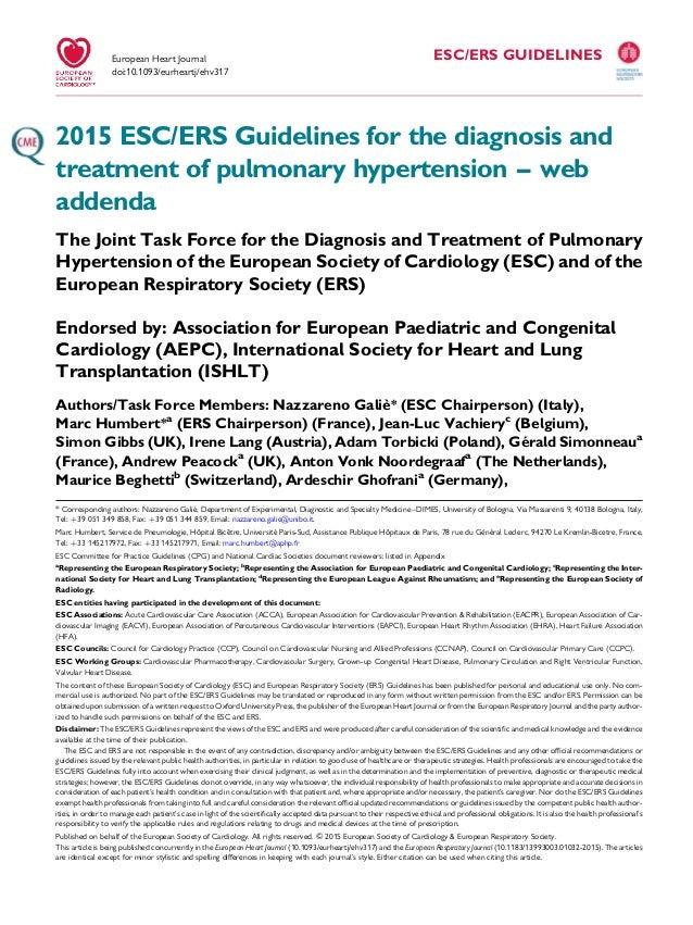 esc pulmonary hypertension guidelines 2015 pdf