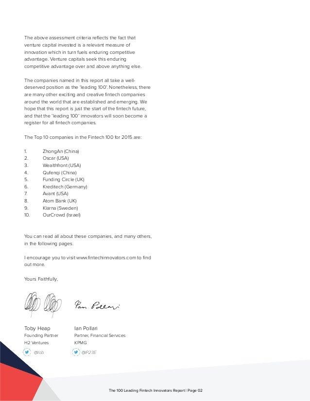 The 100 Leading Global Fintech Innovators 2015  Slide 3