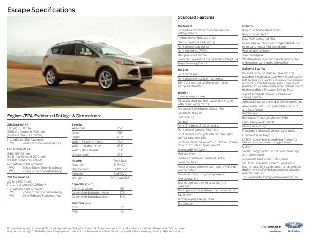 3. 2015 escape ford.com Escape Specifications ...  sc 1 st  SlideShare & 2015 ford escape vehicle Information at El Paso - Albuquerque Dealersu2026 markmcfarlin.com