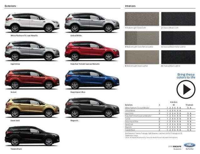 2015 Ford Escape Vehicle Information At El Paso
