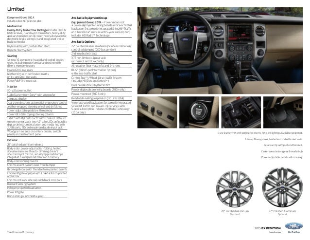 2015 Ford Expedition El Information Brochure Bloomington