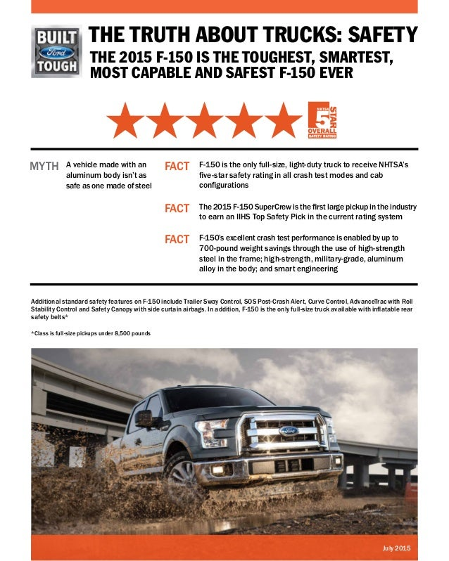 2015 ford f 150 safety fact sheet