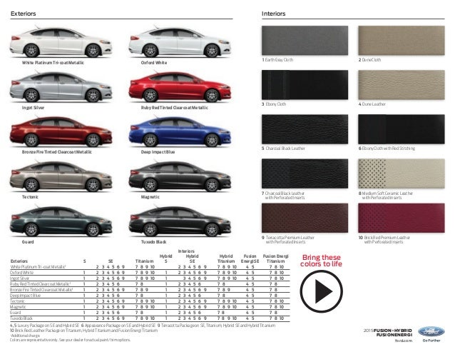 Ford Motor Company Paint Colors