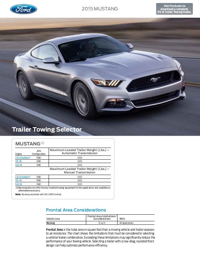 2015 ford mustang towing capacity information bloomington ford a dea rh slideshare net towing a standard transmission vehicle towing a standard transmission vehicle