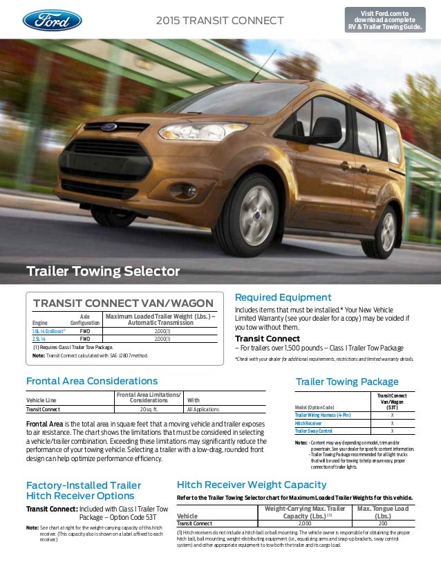Towing Capacity >> 2015 Ford Transit Connect Towing Capacity Information At El