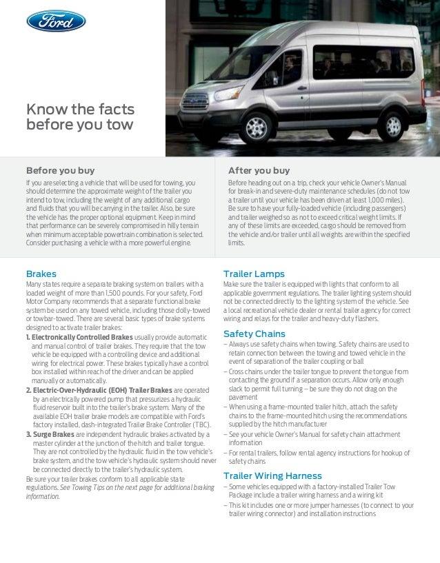 Ford Transit Towing Capacity >> 2015 Ford Transit Towing Capacity Information Bloomington