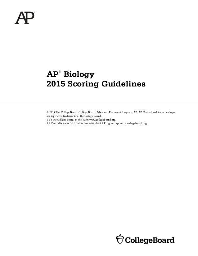 college board ap biology essay answers