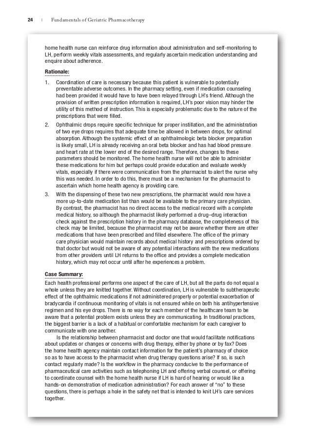 2015 Geriatric Pharma Chapter 1 Fundamentals Of Geriatric Pharmacot