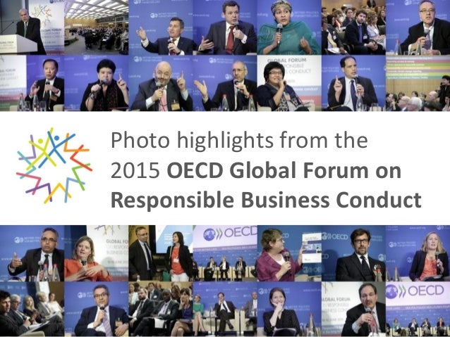 Photo highlights from the 2015 OECD Global Forum on Responsible Business Conduct
