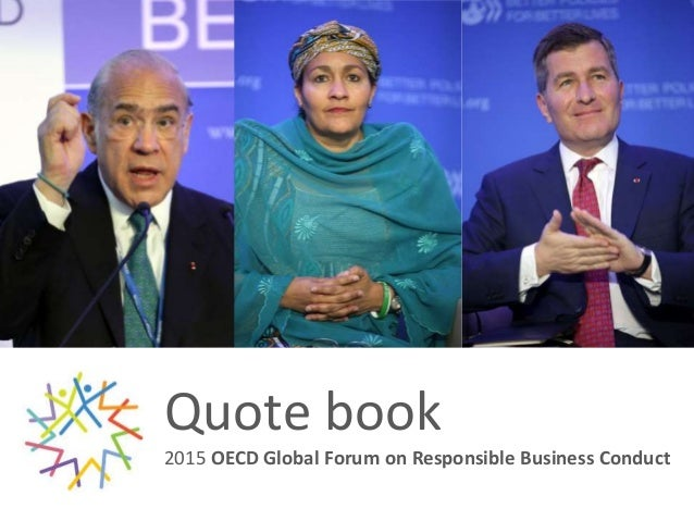 Quote book 2015 OECD Global Forum on Responsible Business Conduct