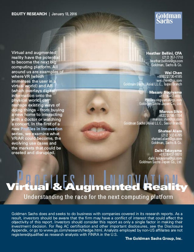 Virtual and augmented reality have the potential to become the next big computing platform. All around us are examples of ...