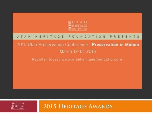 2015 Heritage Awards