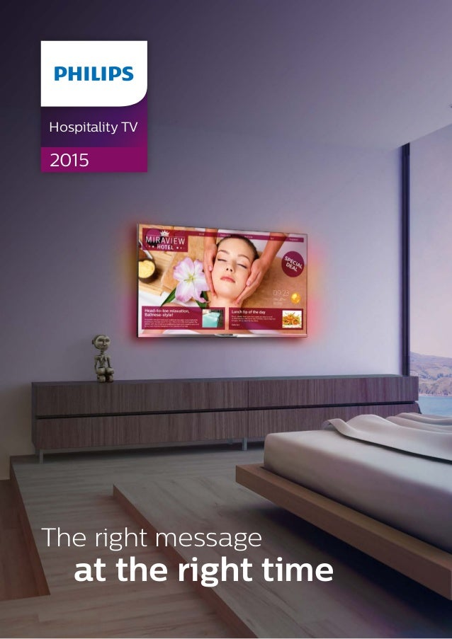 The right message at the right time Hospitality TV 2015