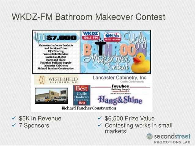 Bathroom Makeovers Contest bathroom makeover contest. contest run on media company website