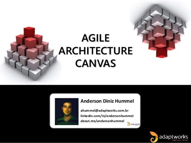 Anderson Diniz Hummel ahummel@adaptworks.com.br linkedin.com/in/andersonhummel about.me/andersonhummel AGILE ARCHITECTURE ...