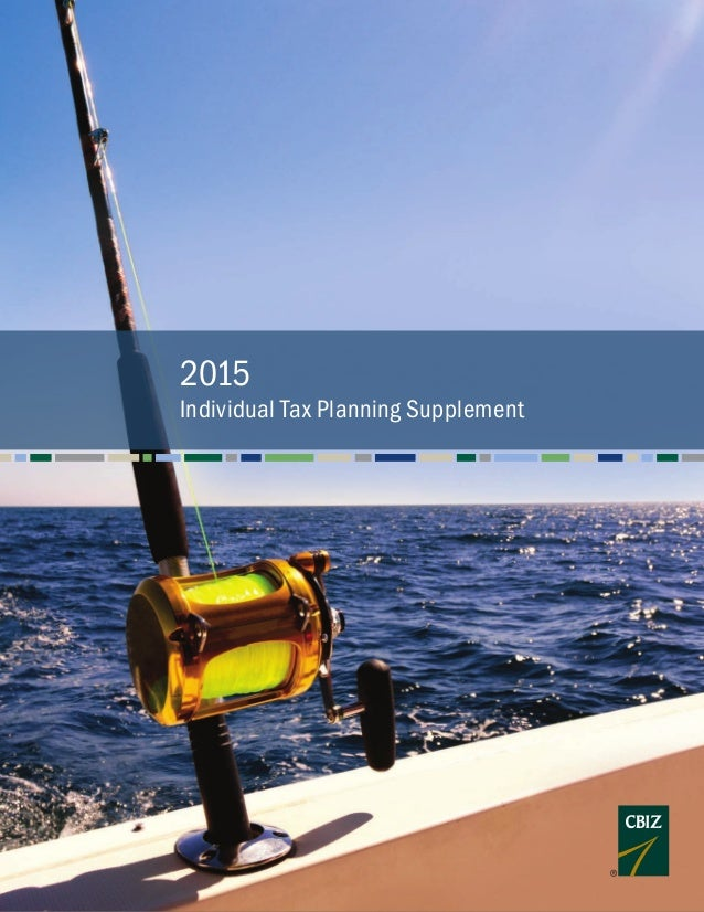 2015 Individual Tax Planning Supplement