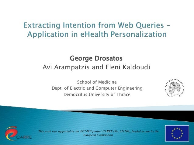 This work was supported by the FP7-ICT project CARRE (No. 611140), funded in part by the European Commission. George Drosa...