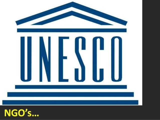 NGO's…
