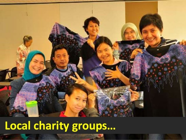 Local charity groups…