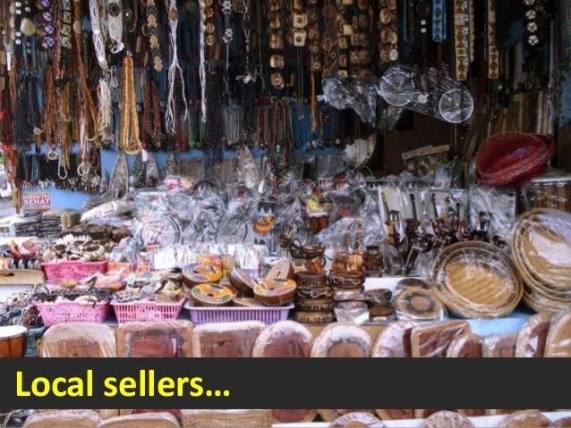 Local sellers…