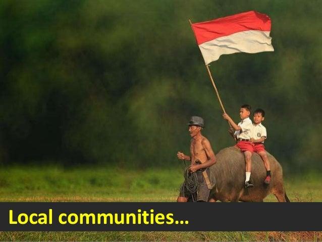 Local communities…