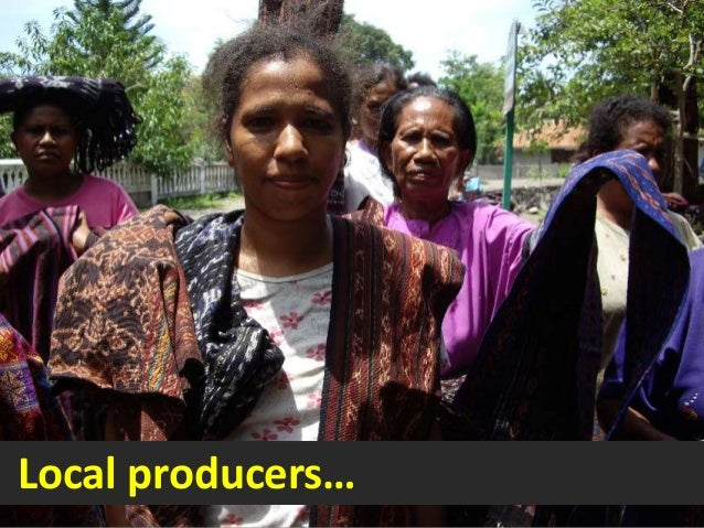 Local producers…