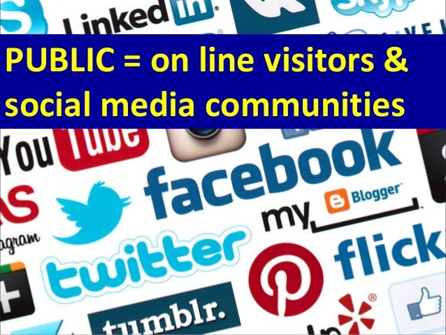 PUBLIC = on line visitors & social media communities