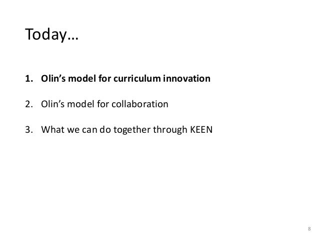 Creating Bold Change Together: The Olin College Model for Collaborati…