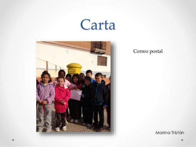 Carta Marina Tristán Correo postal