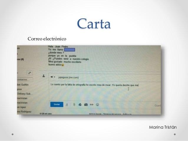 Carta Marina Tristán Correo electrónico