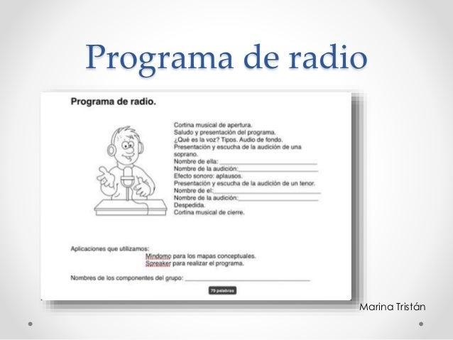 Programa de radio Marina Tristán