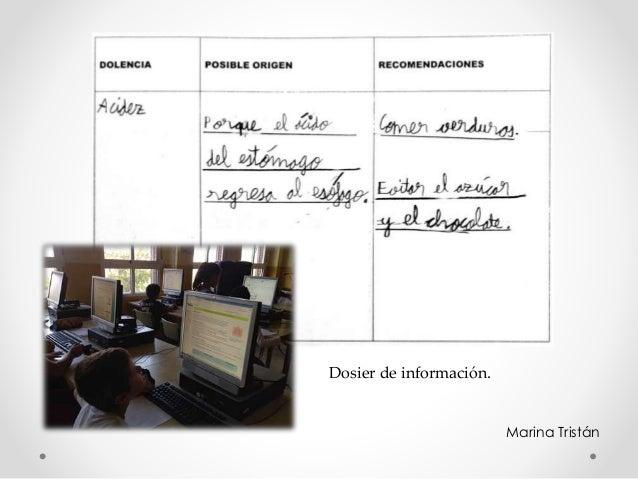 Marina Tristán Dosier de información.