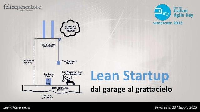Lean Startup dal garage al grattacielo Lean@Core series Vimercate, 23 Maggio 2015