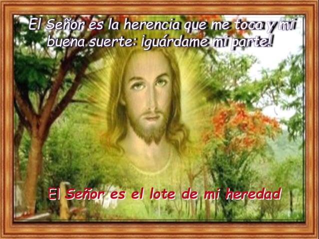 Bendeciré al Señor, que me aconseja, hasta de noche me instruye interiorment. Tengo siempre presente al Señor; con él a mi...