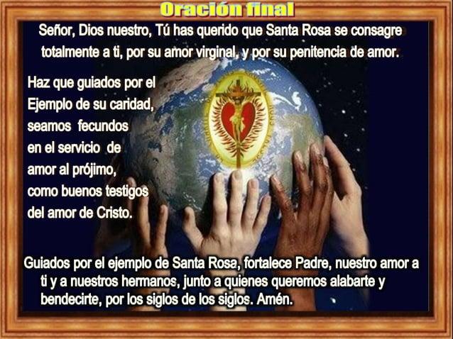 2015 Lectio Divina, Santa Rosa de Lima