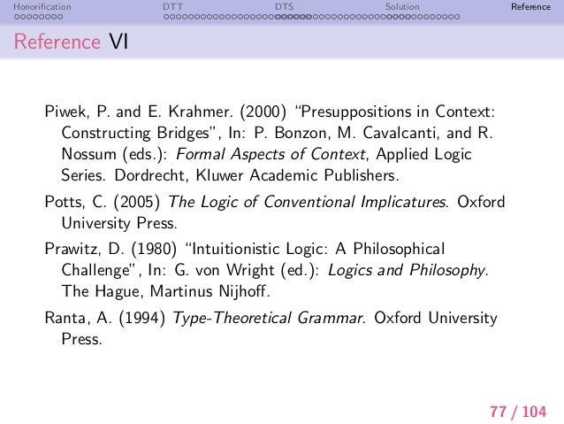 Presupposition in semantics essay