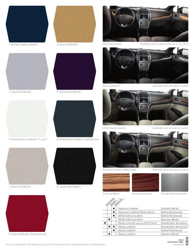 mkc lincoln interior colors exterior