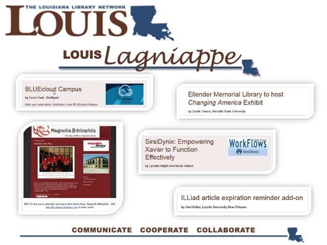 LOUIS Solution Center Under Resources & in Quick Links Details LOUIS support services & applications Statistics Under Reso...