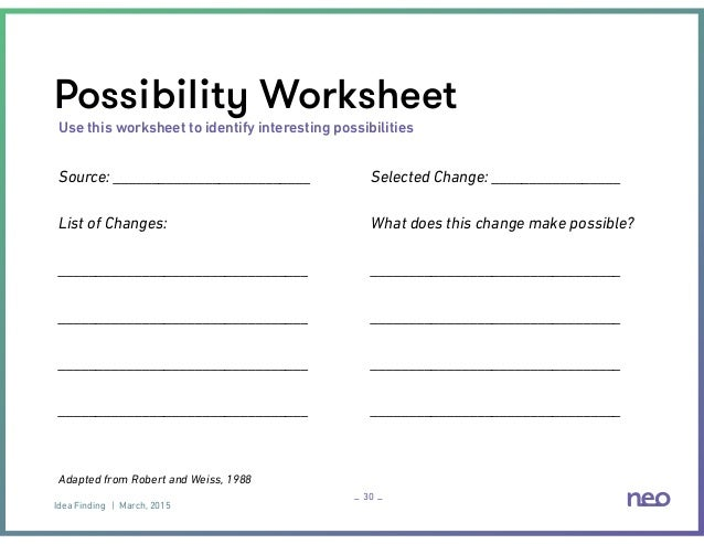 Beyond Brainstorming IdeaFinding for Innovation – Brainstorm Worksheet