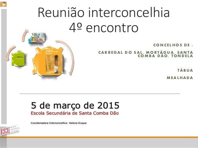 Reunião interconcelhia 4º encontro CONCELHOS DE : CARREGAL DO SAL, MORTÁGUA, SANTA COMBA DÃO, TONDELA TÁBUA MEALHADA 5 de ...