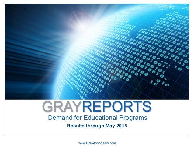 GRAYREPORTS Demand for Educational Programs www.GrayAssociates.com Results through May 2015
