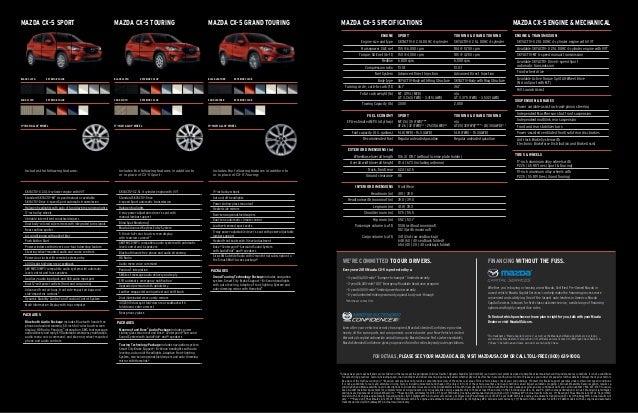 Mazda Capital Services >> 2015 Mazda CX5 Brochure Neil Huffman Mazda