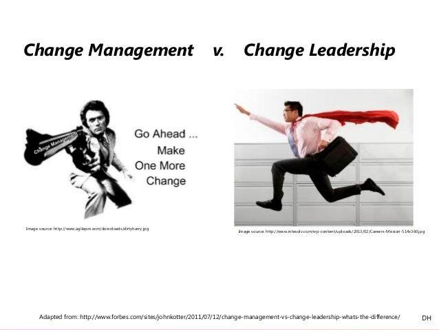 Adapted from: http://www.forbes.com/sites/johnkotter/2011/07/12/change-management-vs-change-leadership-whats-the-differenc...