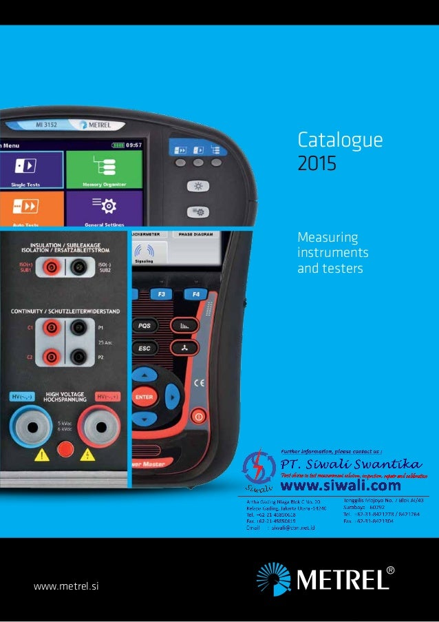 www.metrel.si Catalogue 2015 Measuring instruments and testers