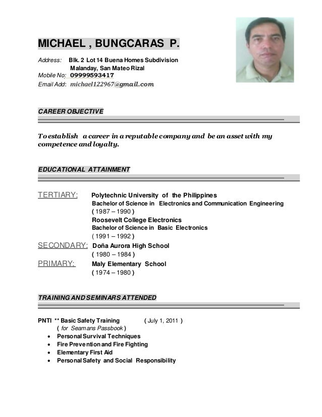 2015 michael bungcaras resume   updated