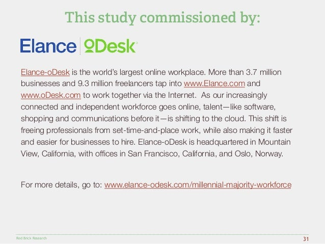 Elance-oDesk is the world's largest online workplace. More than 3.7 million  businesses and 9.3 million freelancers tap in...
